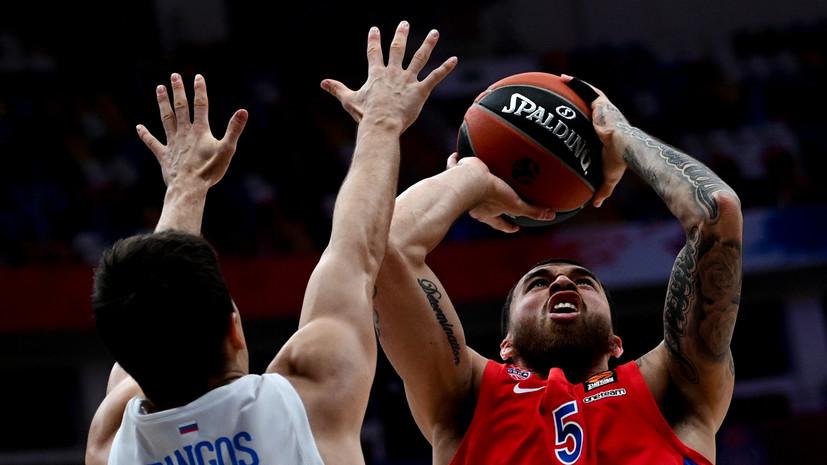 ЦСКА разгромил «Зенит» в матче баскетбольной Евролиги