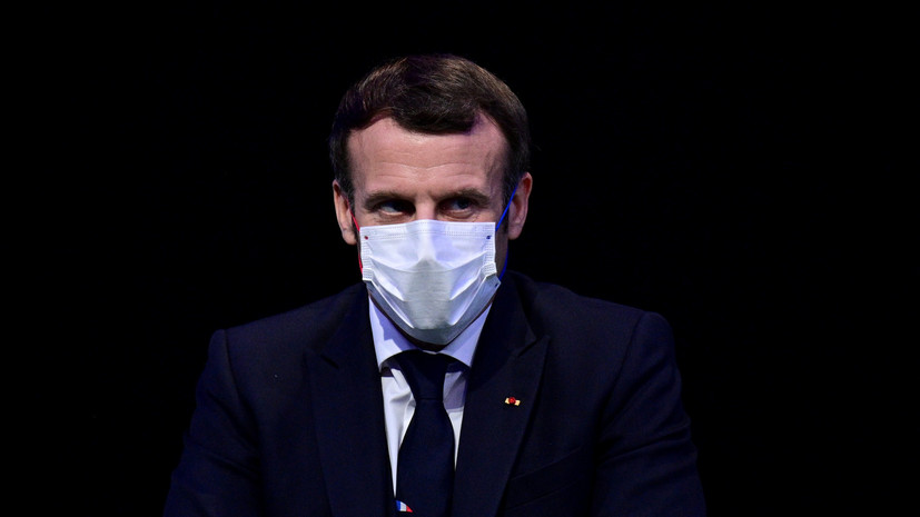 В Париже рассказали о состоянии заболевшего COVID-19 Макрона