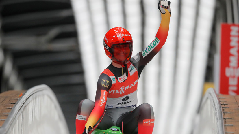 Таубиц выиграла этап КМ по саням, Иванова — седьмая