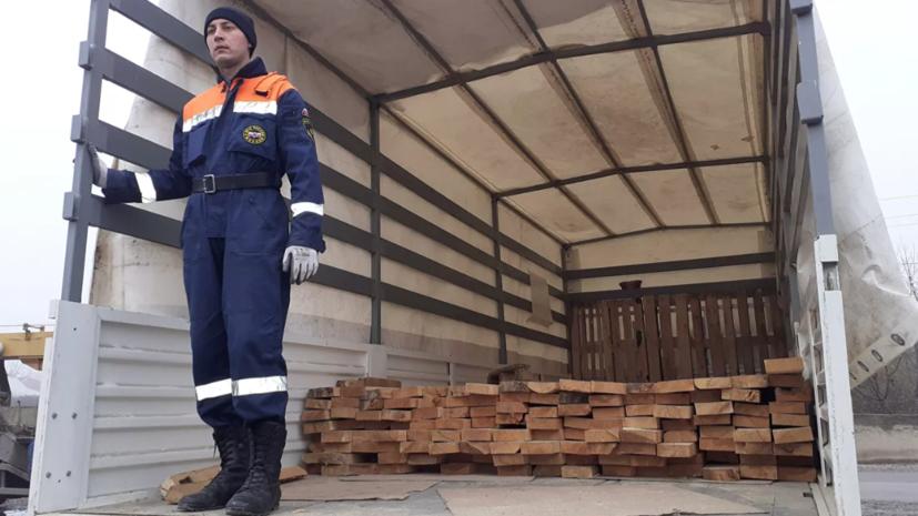 МЧС России доставило стройматериалы в Нагорный Карабах