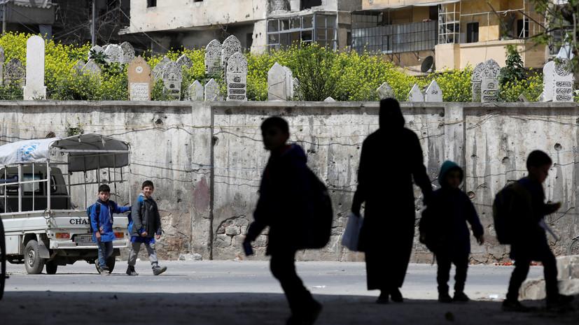 Российские военные отремонтировали школу в сирийском Алеппо