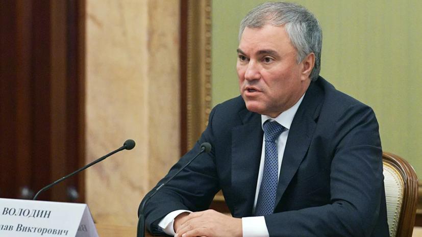 Володин и Додон провели встречу в Москве