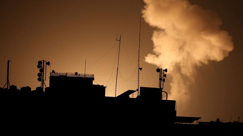 Израиль нанёс удары по ХАМАС в ответ на запуск ракет