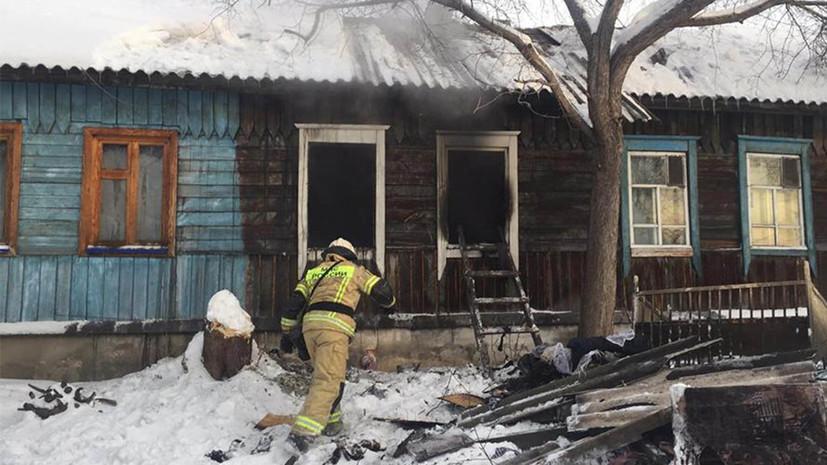 Четыре человека погибли при пожаре в жилом доме в Новосибирске