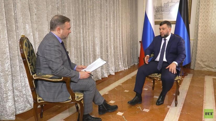 «Мы уже слишком далеки от Киева»: глава ДНР Пушилин — об ошибках Украины, коронавирусе и доктрине «Русского Донбасса»