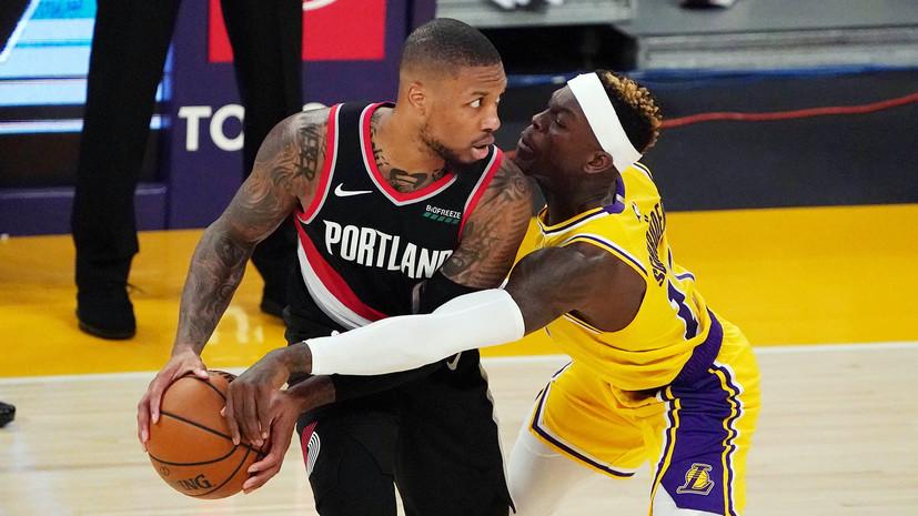 «Лейкерс» проиграл «Портленду» в матче НБА