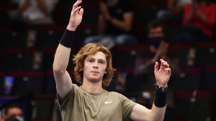 Рублёв о награде ATP: я больше рад за своего тренера