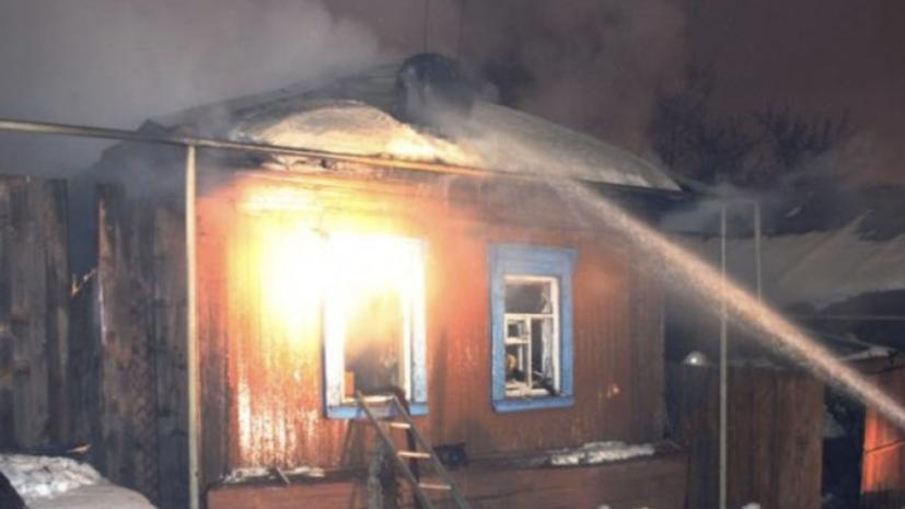 В Красноярском крае при пожаре в жилом доме погибли четыре человека