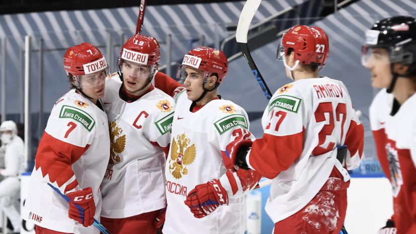 Сборная России открыла счёт в матче со Швецией на МЧМ-2021 по хоккею