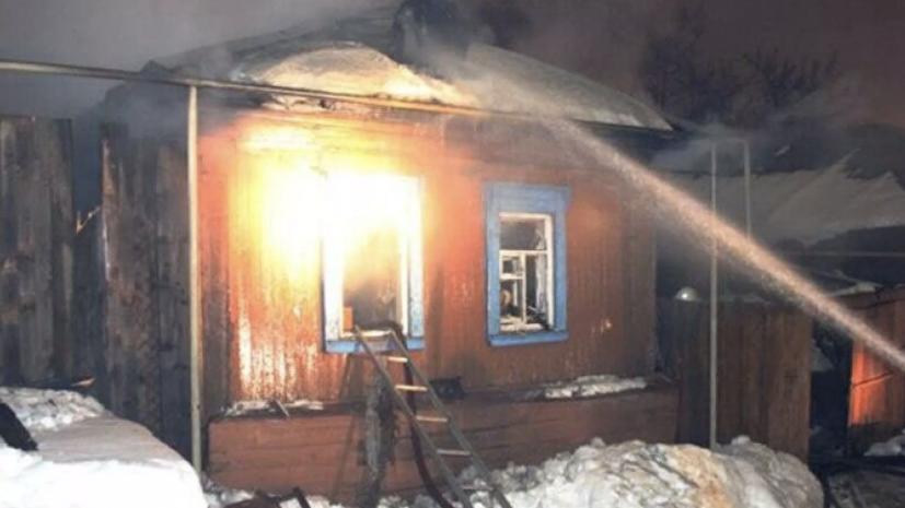 В Красноярском крае возбудили дело по факту пожара в жилом доме