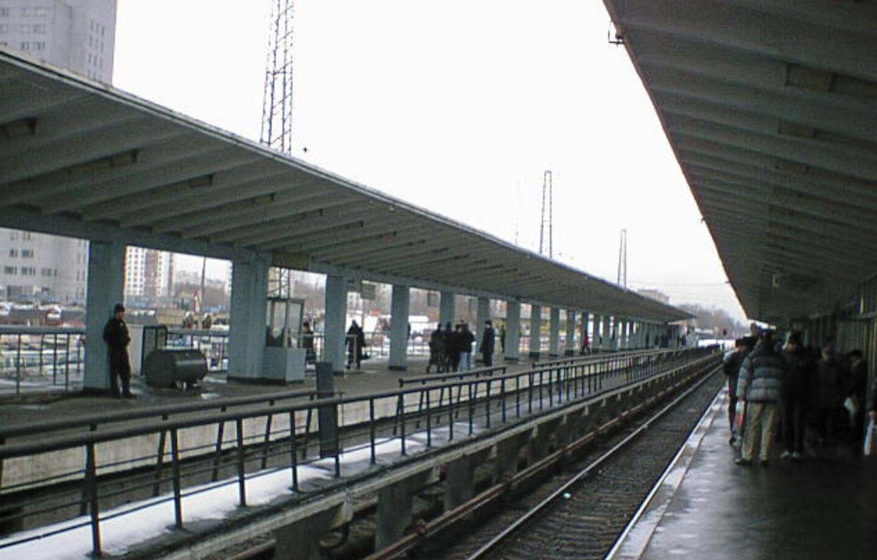 Платформа станции метро «Выхино» (бывшая «Ждановская») / © Wikimedia