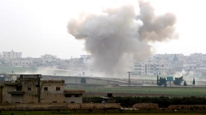 Военные России и Сирии подорвали командный пункт боевиков в Идлибе