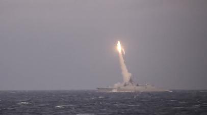 Пуск гиперзвуковой ракеты «Циркон» с фрегата «Адмирал Горшков» — видео