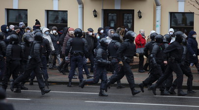 В Минске в ходе протестов задержаны более 300 человек