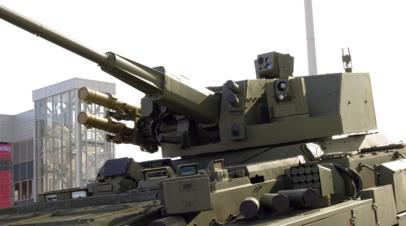 Выставочный образец 57-мм боевого модуля АУ-220М («Байкал»)