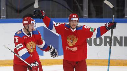 Дебютная победа Брагина: сборная России по хоккею обыграла по буллитам Швецию в матче Кубка Первого канала