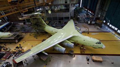 Самолёт Ил-78М-90А в Ульяновске