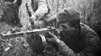 Боец с ППШ-41