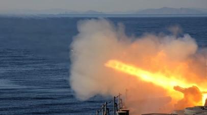 Испытания артиллерийской установки «Маршала Шапошникова»