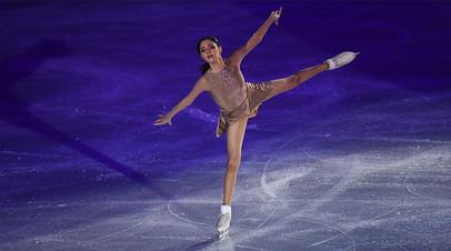 Евгения Медведева участвует в показательных выступлениях на чемпионате России по фигурному катанию в Челябинске