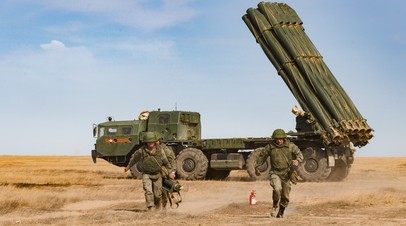 Военнослужащие РФ во время учений
