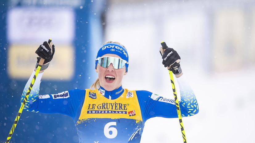 Лампич потеряла второе место в спринте на «Тур де Ски» из-за дисквалификации