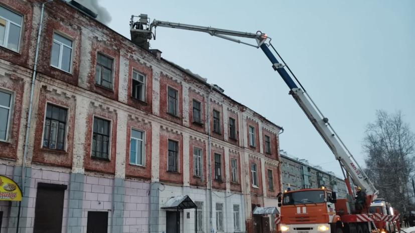 Во Владимирской области потушили крупный пожар в доме