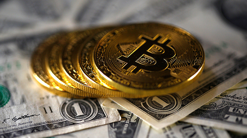 Стоимость биткоина снизилась более чем на 8%