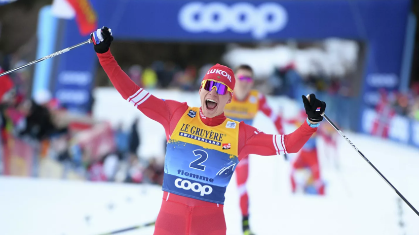 Большунов победил в гонке с раздельным стартом на этапе «Тур де Ски» в Италии
