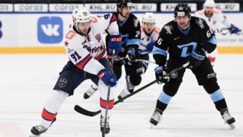 СКА в овертайме проиграл минскому «Динамо» в КХЛ