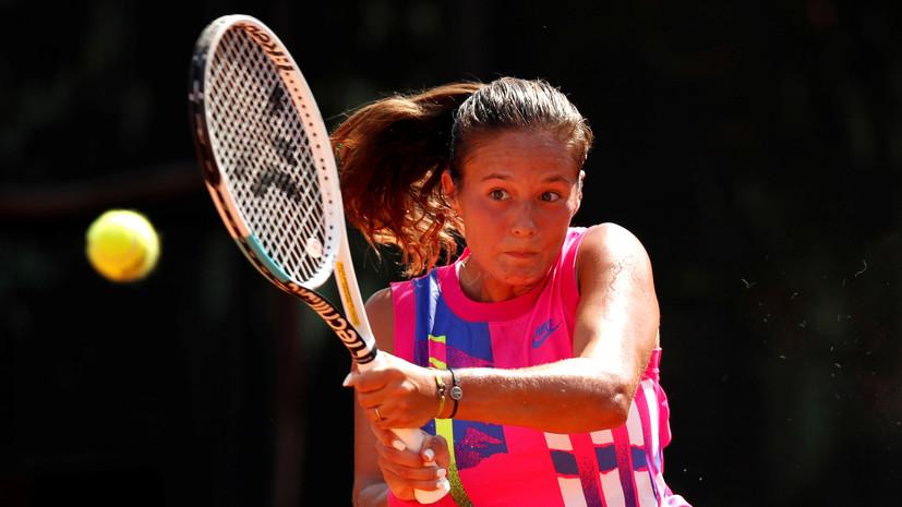 Теннисистка Касаткина — о первом матче сезона: я не нервничала, но были какие-то ощущения в животе