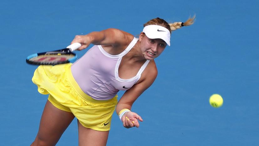 Потапова проиграла Саккари в первом круге турнира WTA в Абу-Даби
