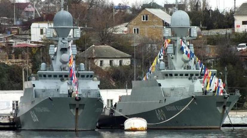 В пункте базирования надводных кораблей Каспийской флотилии в Дагестане прошли учения