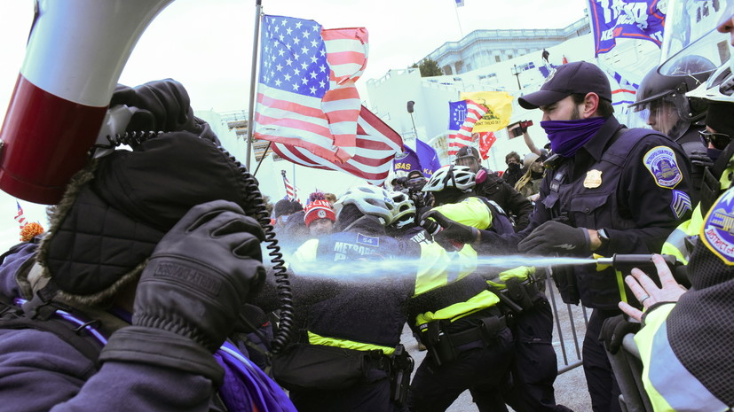 В Вашингтоне полиция применила слезоточивый газ против сторонников Трампа