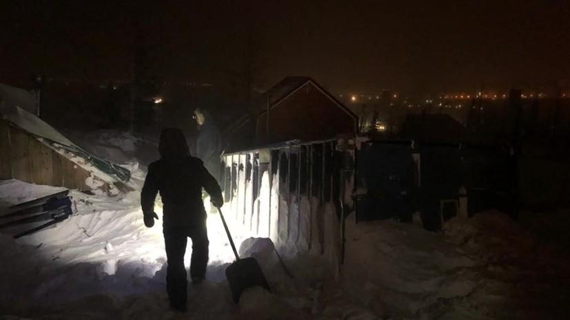 МЧС завершает поисковые работы на месте схода лавины в Норильске