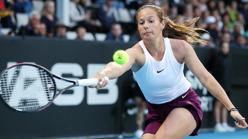 Касаткина вышла в третий круг турнира WTA в Абу-Даби после снятия Муховой