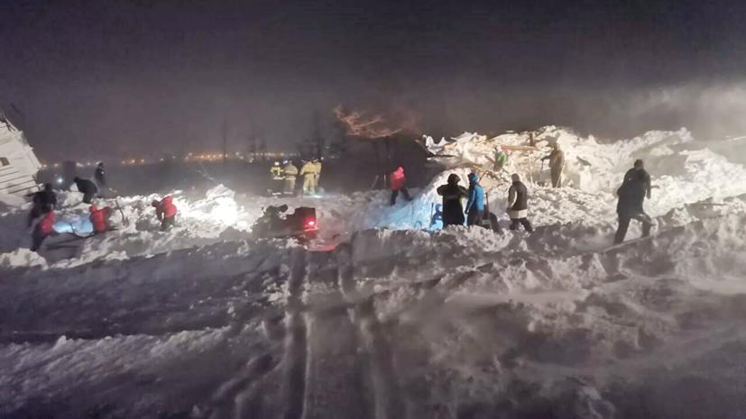 МЧС: угрозы повторного схода лавины в Норильске нет