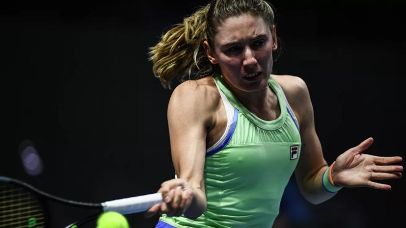 Александрова вышла в третий круг турнира WTA в Абу-Даби