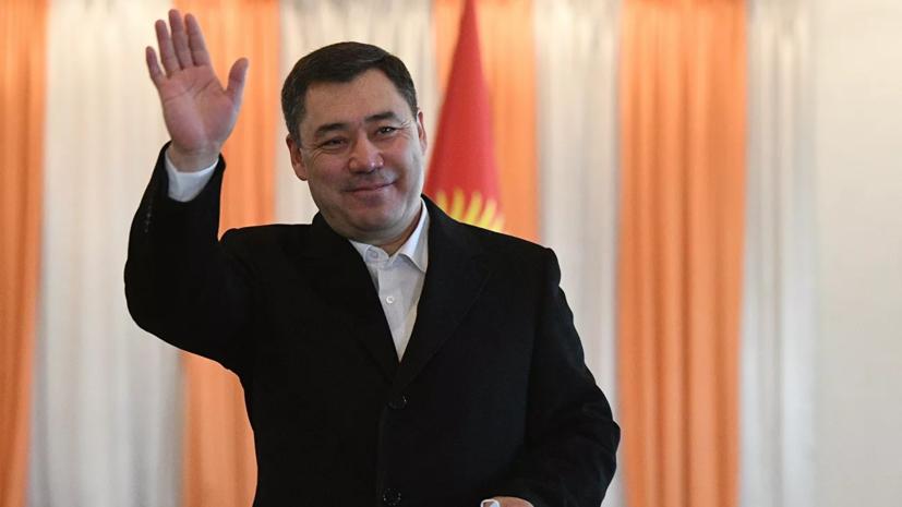 Путин поздравил Жапарова с победой на выборах президента Киргизии