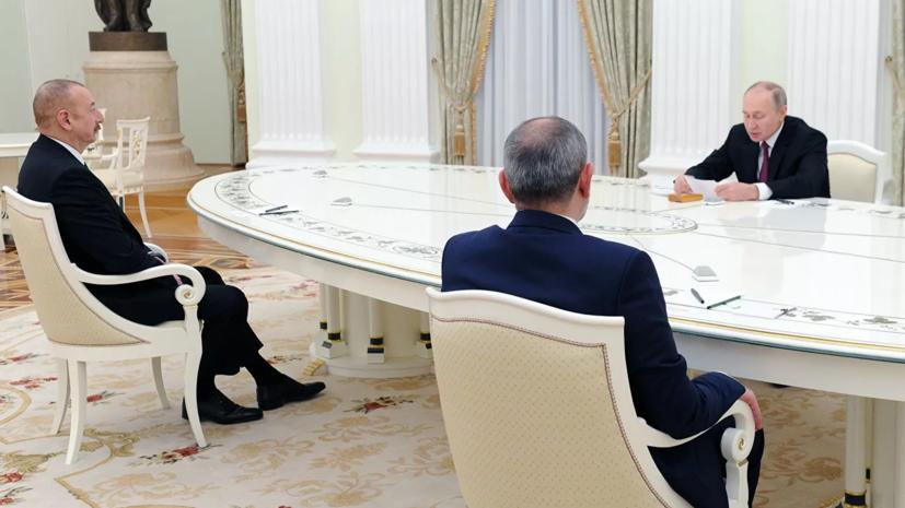 Переговоры Путина, Алиева и Пашиняна продлились почти четыре часа