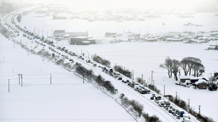 Россиянка рассказала о последствиях снегопада в Японии