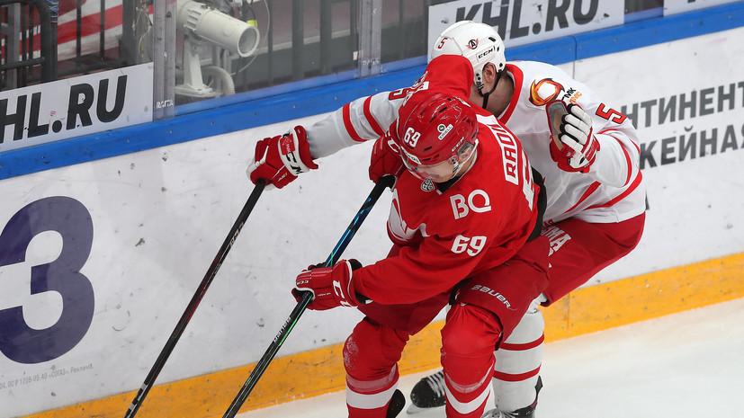 «Автомобилист» обыграл «Спартак» в матче КХЛ