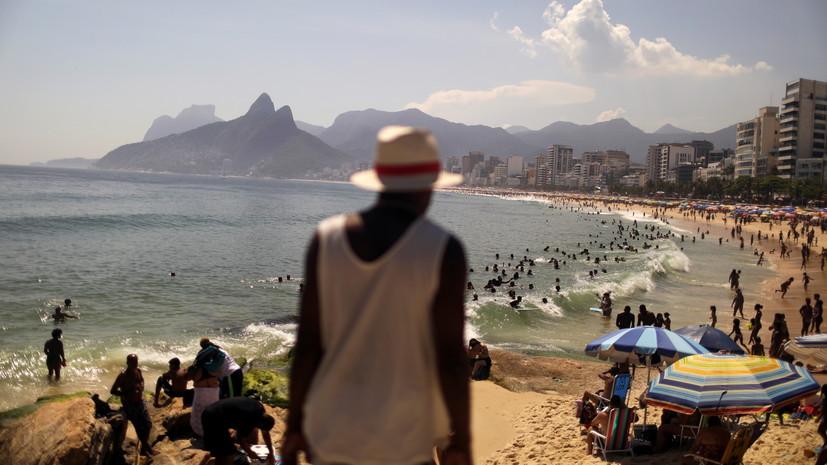 В Бразилии число выявленных случаев коронавируса достигло 8 256 536