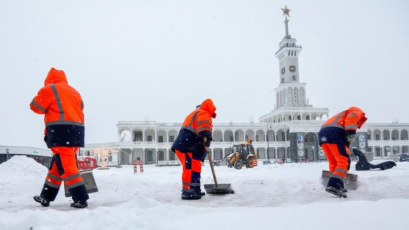 Более 60 тысяч человек ликвидируют последствия снегопада в Москве