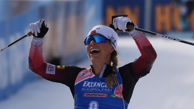 Экхофф выиграла спринт на этапе КМ по биатлону в Оберхофе, Кайшева — в топ-20