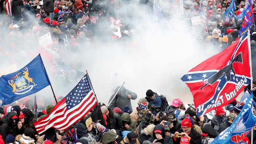 В ФБР сообщили об аресте более 100 участников беспорядков в Вашингтоне
