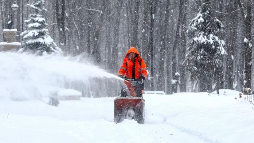 В Подмосковье около 10 тысяч км дорог расчистили после снегопада