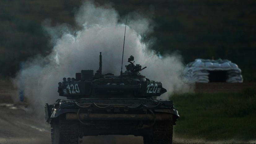 РИА Новости: в России провели сетецентрическую операцию с танками Т-90М