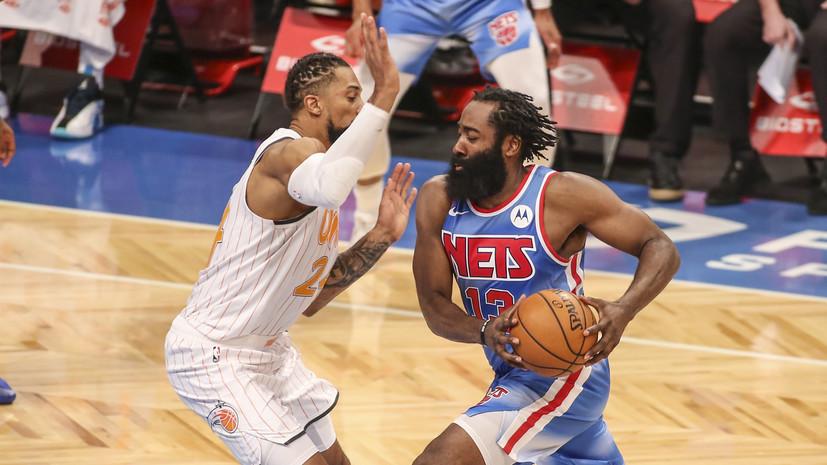 Трипл-дабл Хардена и 42 очка Дюранта помогли «Бруклину» победить «Орландо» в матче НБА