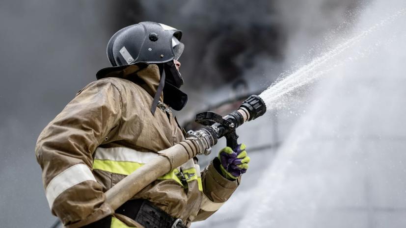 В Красноярске произошёл пожар в производственном здании